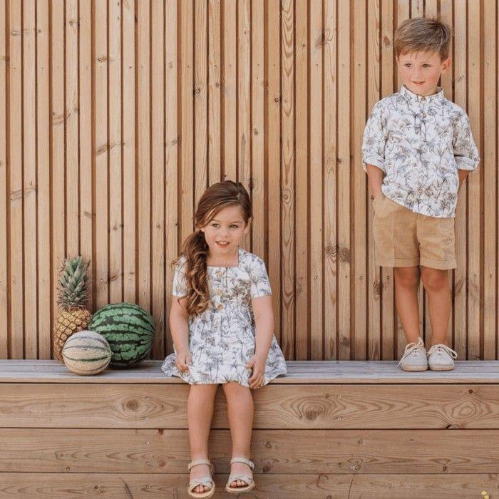 Safari Girls Print Dress