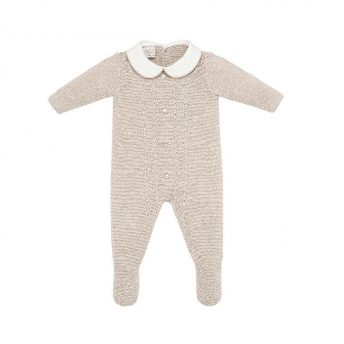 Babygrow Tricot Menino Creme