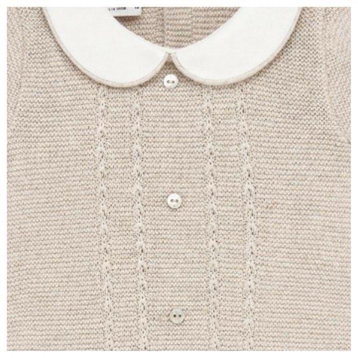 Beige Knitted Babygrow