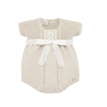 Beige Lace Cotton Shortie
