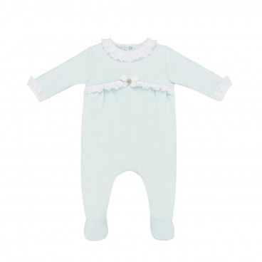 Paz Aquamarine Cotton Babygrow