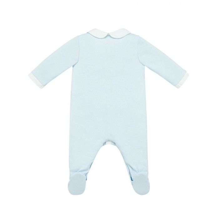 Chalk Blue Cotton Babygrow