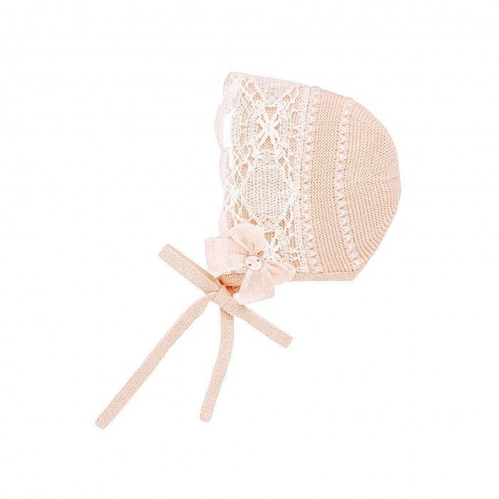 Tangerine Knitted Bonnet