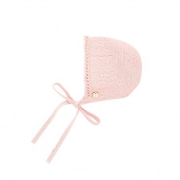 Powder Pink Knitted Bonnet