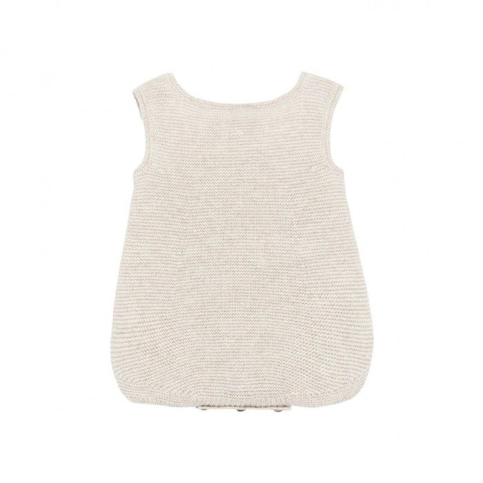 Fofo Tricot Bege & Branco