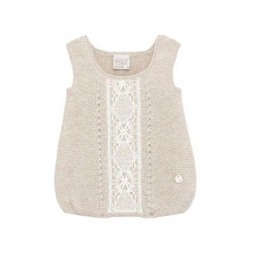 Beige & White Knitted  Shortie