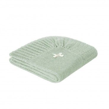 Mint Green Knitted Baby Blanket