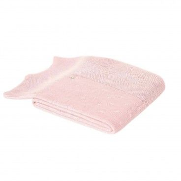 Powder Pink Knitted Blanket