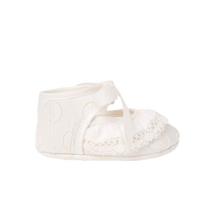 Girls Ivory  Pre-Walker Shoes