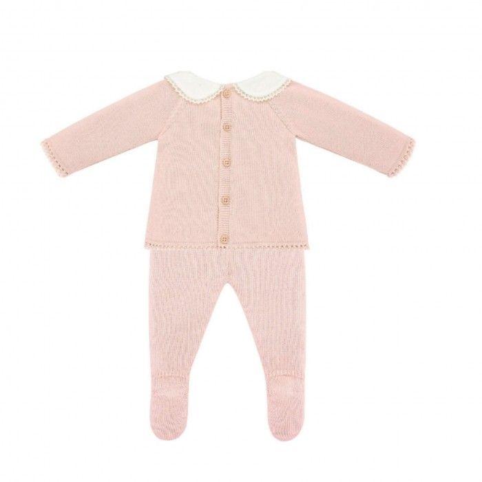 Powder Pink 2 Piece Babygrow