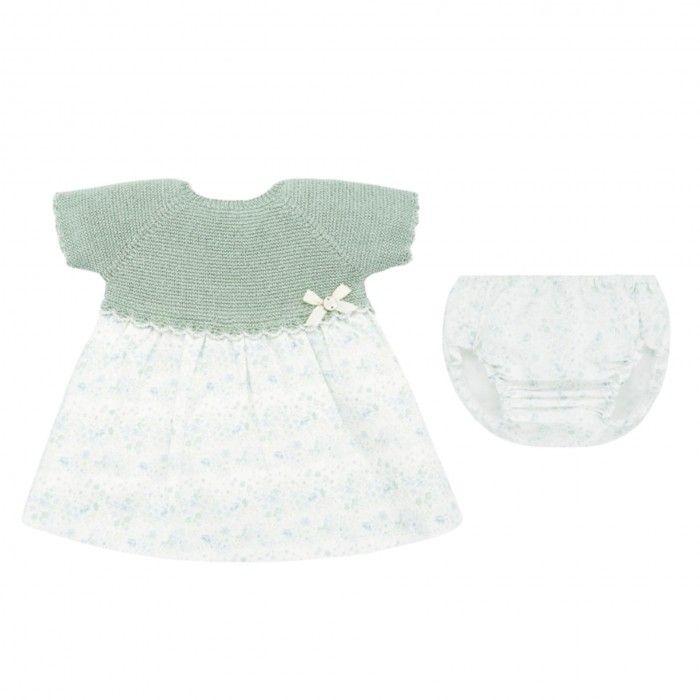 Conjunto Vestido & Tapa Fralda Verde Menta
