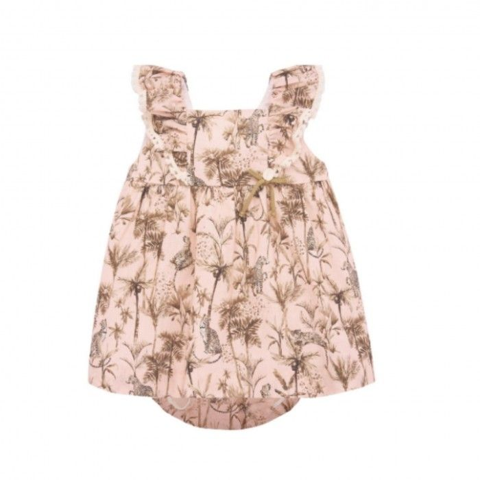 Safari Print Dress Set