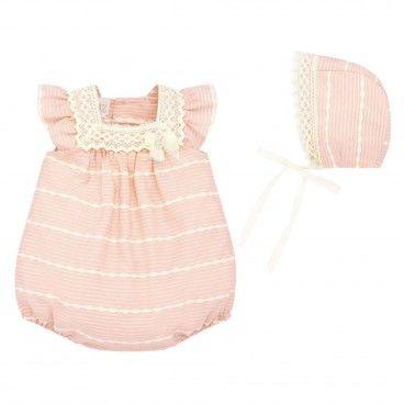 Girls Powder Pink Shortie Set