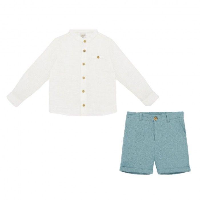 Blue Cloud Shorts Set