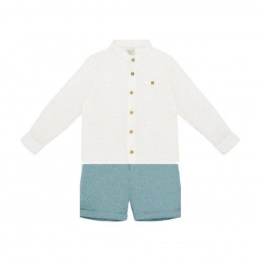 Blue Cloud Shorts Set