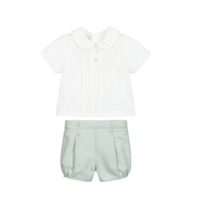 Conjunto Verde Menta Camisa & Shorts