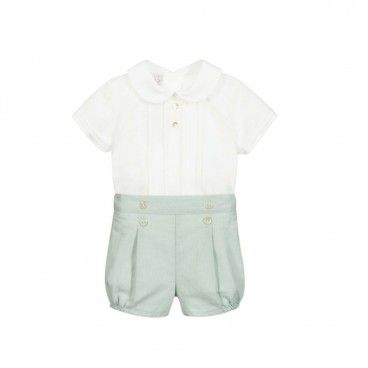 Baby Boys Mint Green Short Set