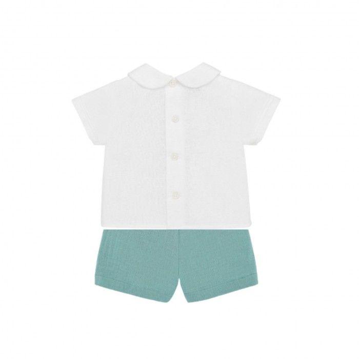 Ivory &  Mist Green Shorts Set