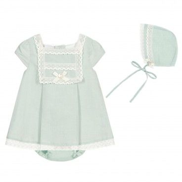 Mint Green Linen Dress Set