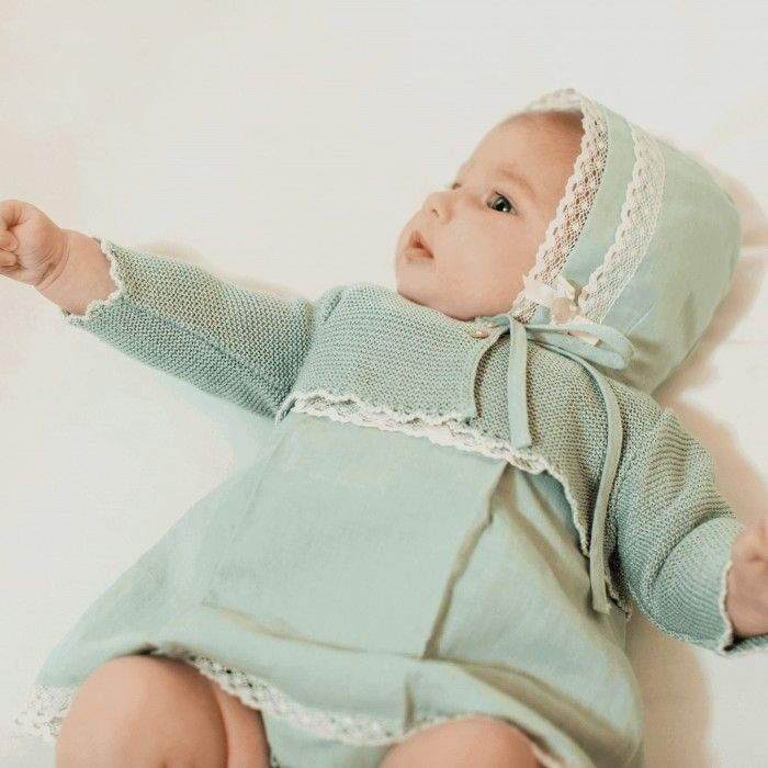 Mint Green Linen Dress Set
