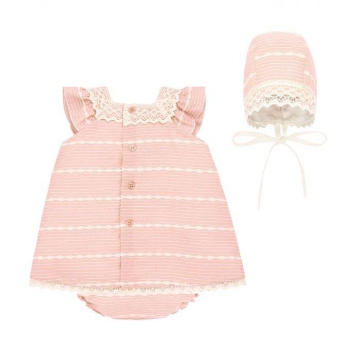 Conjunto Vestido & Bloomers Rosa Chá