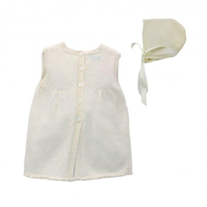 Ivory Knitted Dress Set