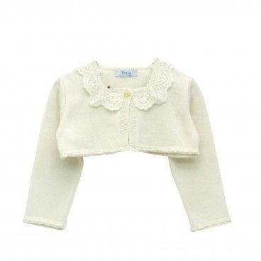 Girls Ivory Cardigan