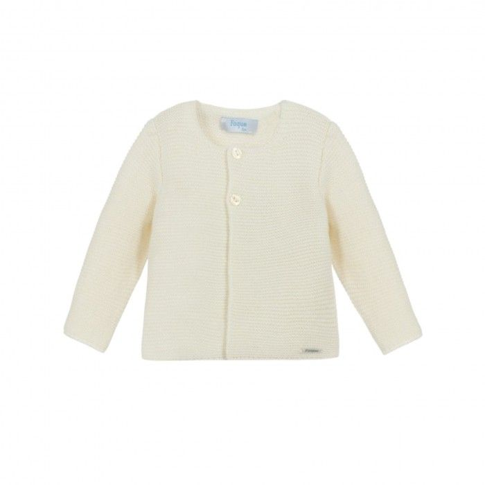 Foque Ivory Cotton Cardigan