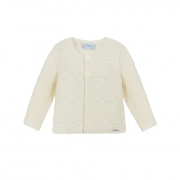Foque Ivory Cotton Cardigan