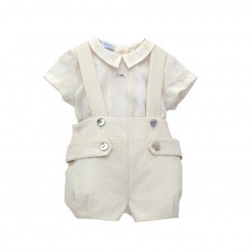 Boys Ivory Shorts Set