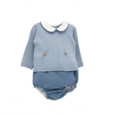 Blue Cotton Shortie Set
