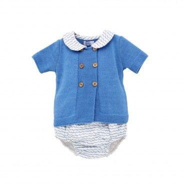 Blue Sea Cotton Shortie Set