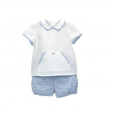 Boys Blue Sea Short Set