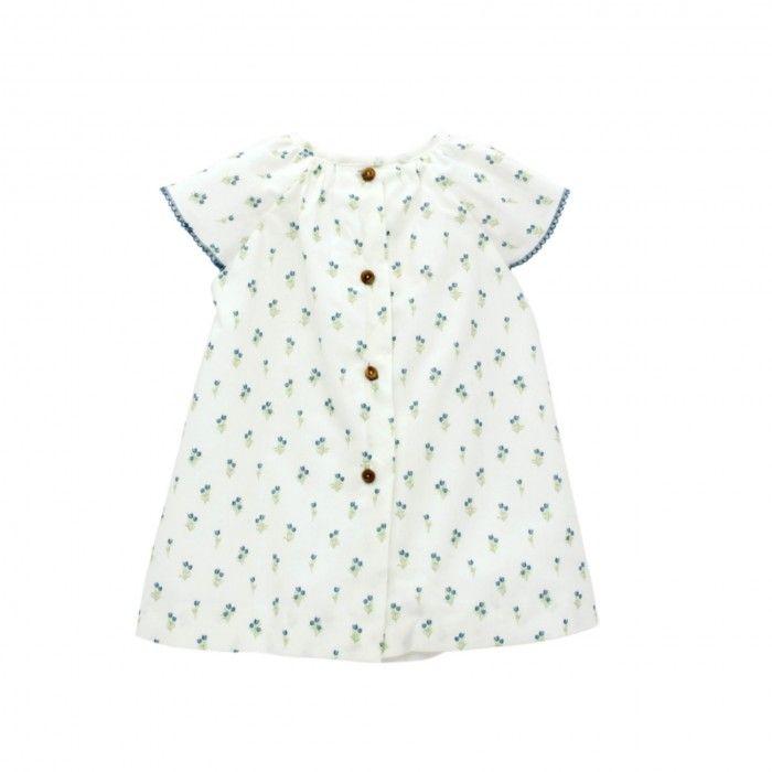 White & Blue Cotton Dress
