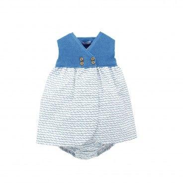 Blue Sea Cotton Dress Set