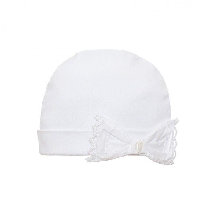 White Cotton Baby Hat Patachou