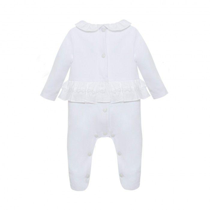 Babygrow Algodão Branco Menina