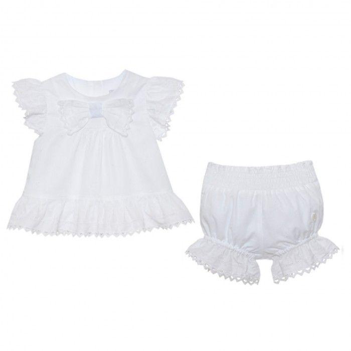 Conjunto Branco Top & Bloomers