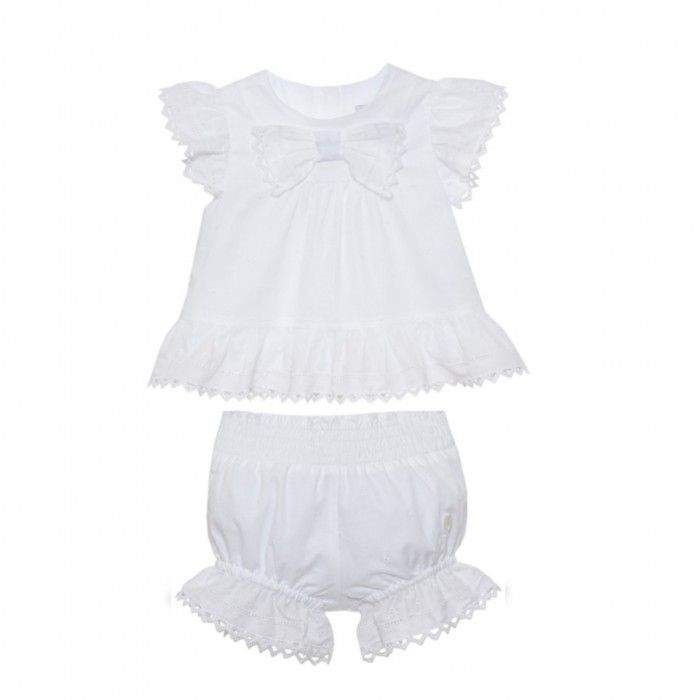 White Cotton Shortie Set