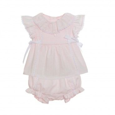 Pink Cotton Shortie Set