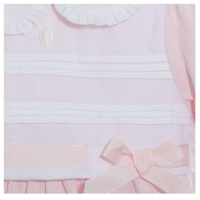 Patachou Pink Cotton Babysuit