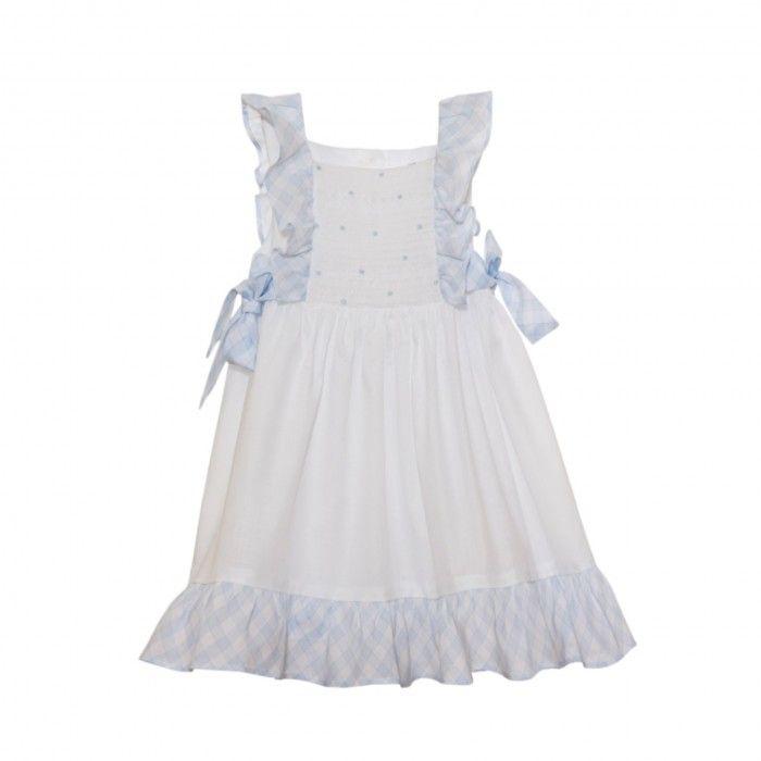 White & Blue Vichy Dress