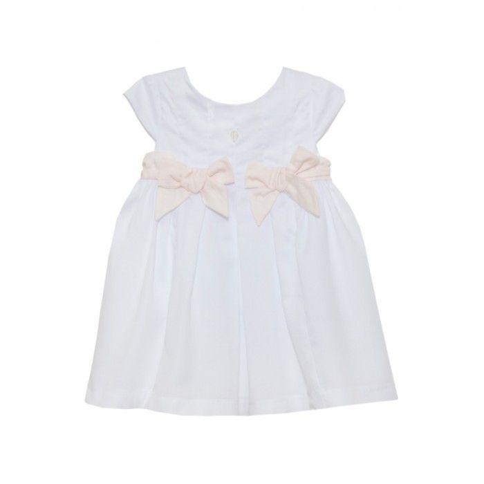Ivory & Pink Cotton Dress