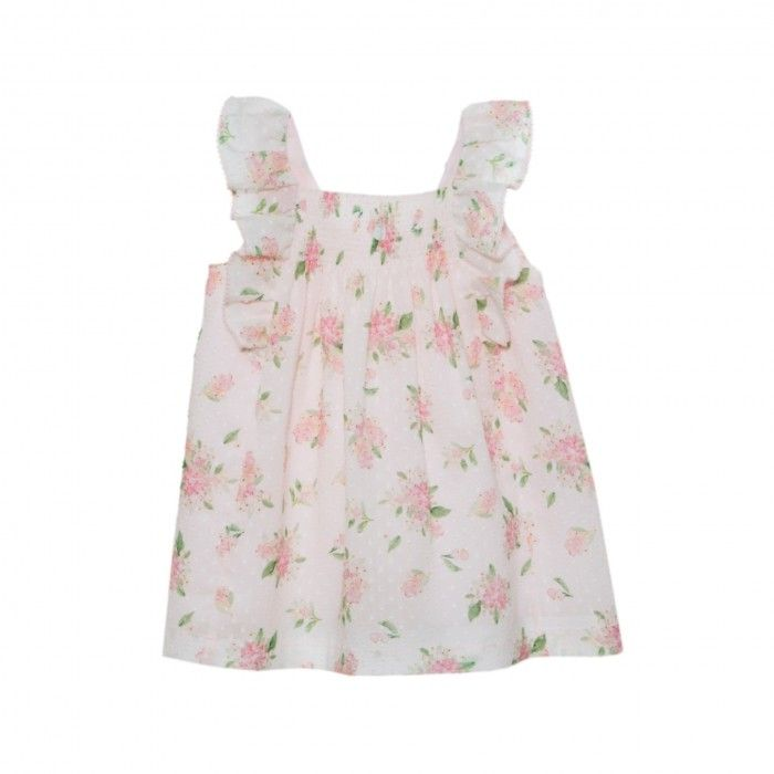 Floral Pink Cotton Dress