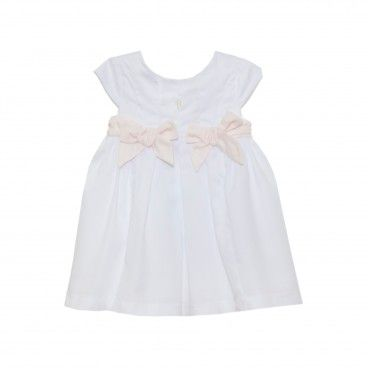 Ivory & Pink Cotton Dress