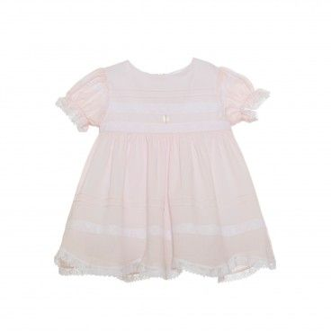 Pink Cotton Lace Dress