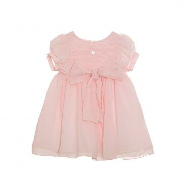 Girls Pale Pink Chiffon Dress