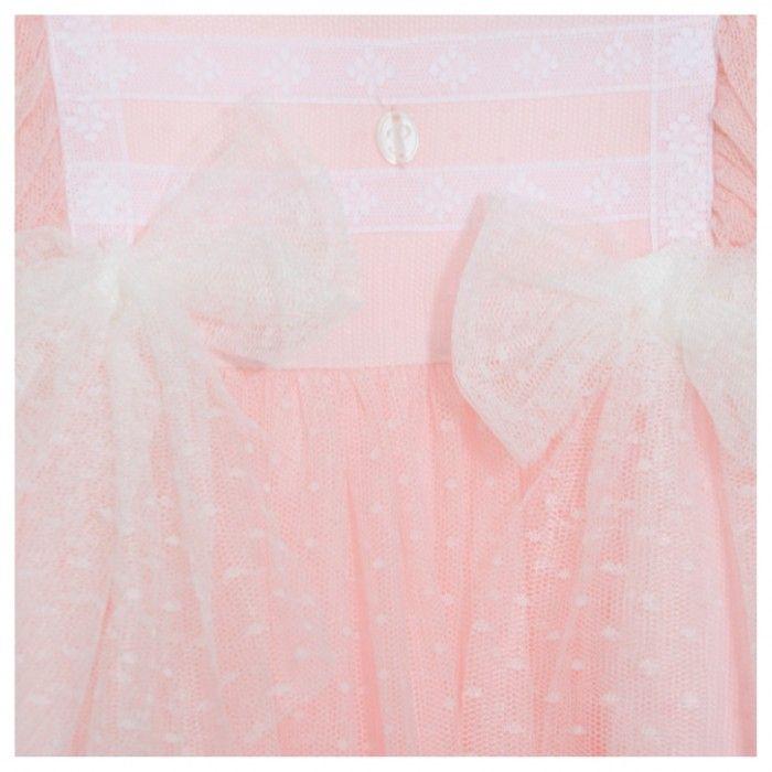 Vestido Menina Tule Rosa