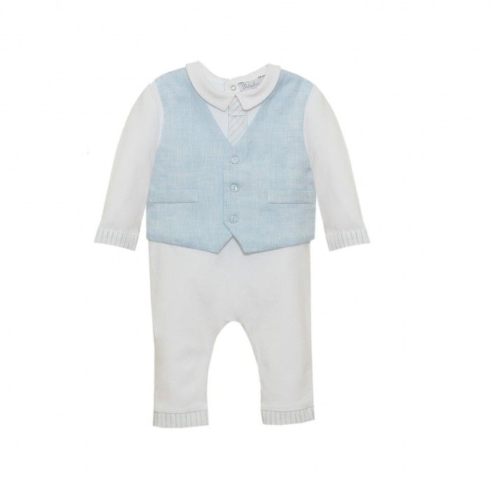 Babygrow Azul & Branco Patachou
