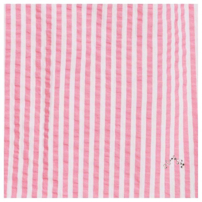 Pink Striped Dress Set